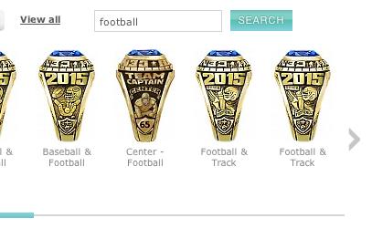 Football High School Class Rings