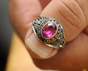 Class Ring on Finger