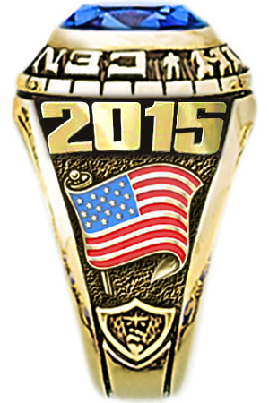 Fantasy Football Championship Ring - American Flag