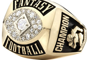Fantasy football champion gold ring cheap