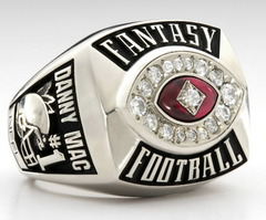 Fantasy football champion ring