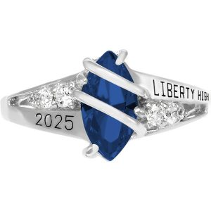 Girls Blue Spinel Class Ring