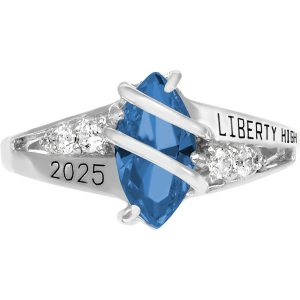 Girls Fire Blue Spinel Class Ring