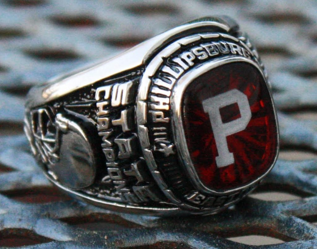 high school football state championship rings